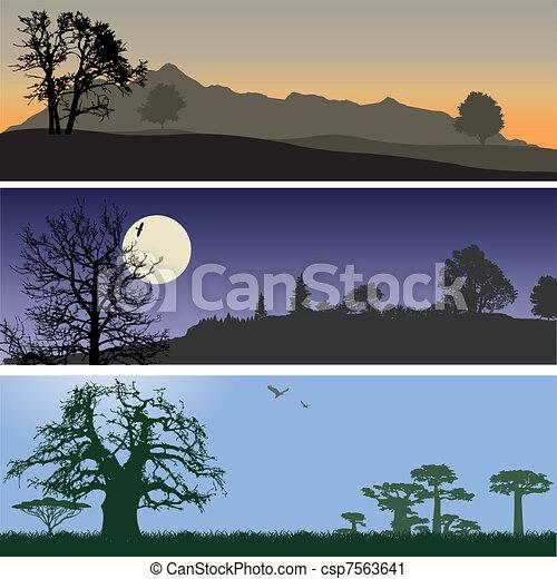 Landscape banners - csp7563641