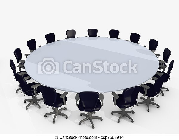 Clip Art of Chairs conference - Chairs constructed in circle for ...