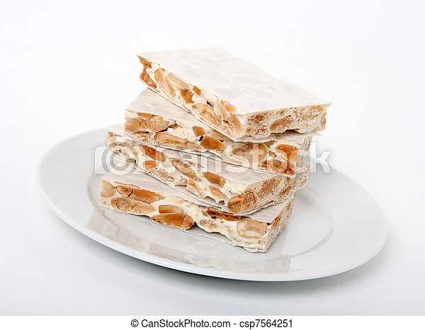 Turron, traditional Spanish dessert - csp7564251