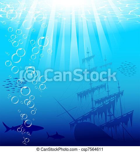 Underwater world - csp7564611