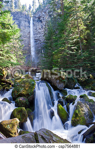 OR_Rogue-Umpqua Scenic Byway-Watson Falls - csp7564881