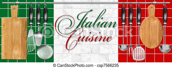 Italian cuisine set Kitchen utensil - csp7566235