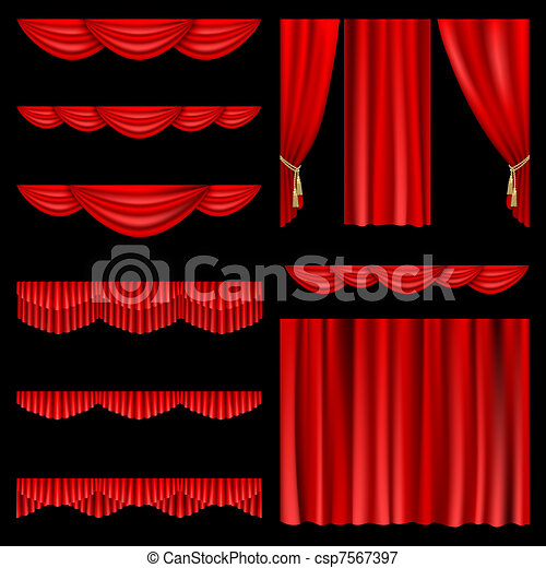 Red curtains - csp7567397