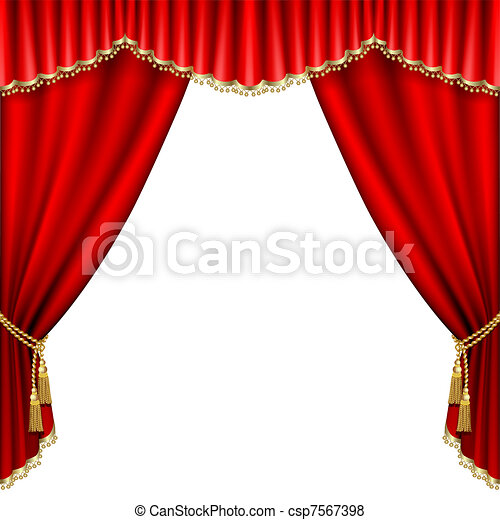 cartoon red curtains wallpaper - photo #48