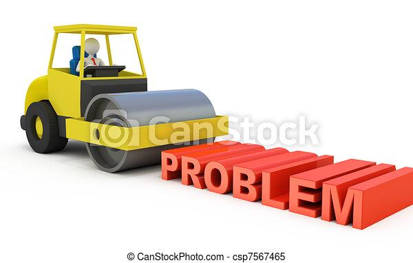 Businessman solving the problem - csp7567465
