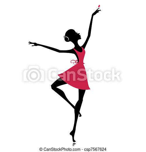 graceful dancer with a butterfly - csp7567624