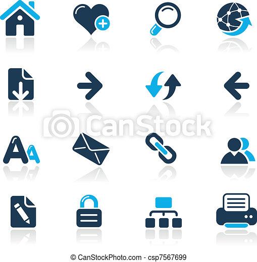Vecteurs Eps De Azur Toile Navigation Vecteur