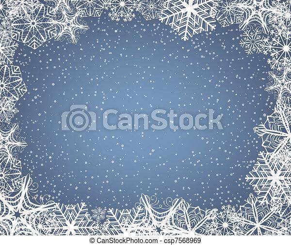vecteurs eps de cadre flocon de neige no 235 l fond 224 cadre de flocons csp7568969