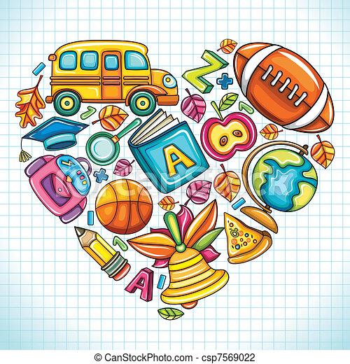 I love school - csp7569022