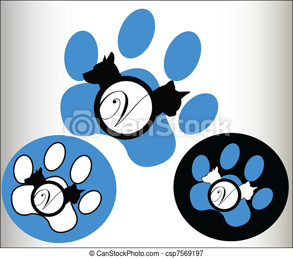 Veterinary  pets Logo - csp7569197