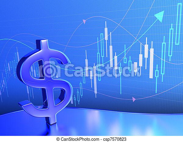 Candlestick Chart Dollar - csp7570823