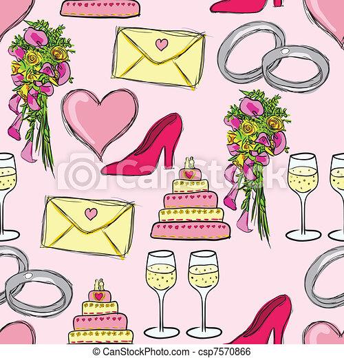 wedding pattern csp7570866 wedding seamless pattern Save Comp