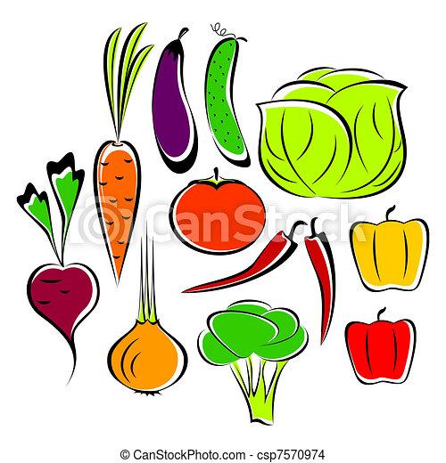 Different vegetables. - csp7570974