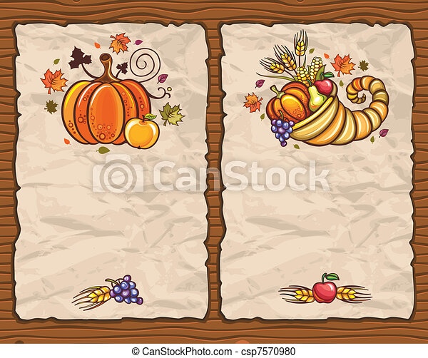 Thanksgiving theme 8 - csp7570980