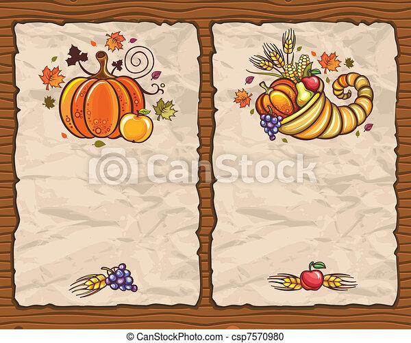 Thanksgiving theme 8 - csp7570980