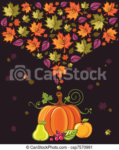 Thanksgiving Design 2 - csp7570991