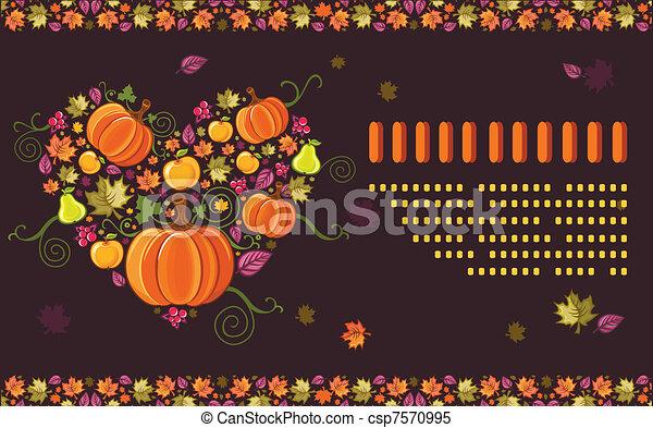 Fall Seasonal Greeting card 6 - csp7570995
