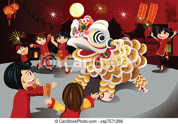 Chinese New Year celebration - csp7571266