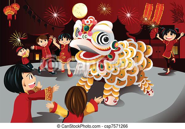 Chinese New Year celebration - csp7571266