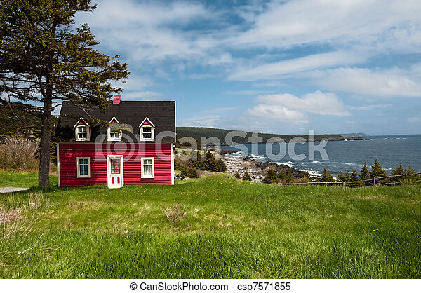 Stock Images Of Salt Box House Witless Bay Nl Antique