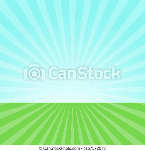 Sky and grass  - csp7572073