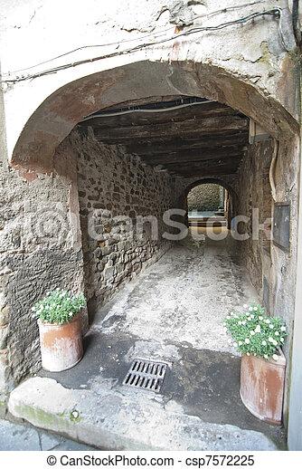 Architectural Detail of Barga, Italy - csp7572225