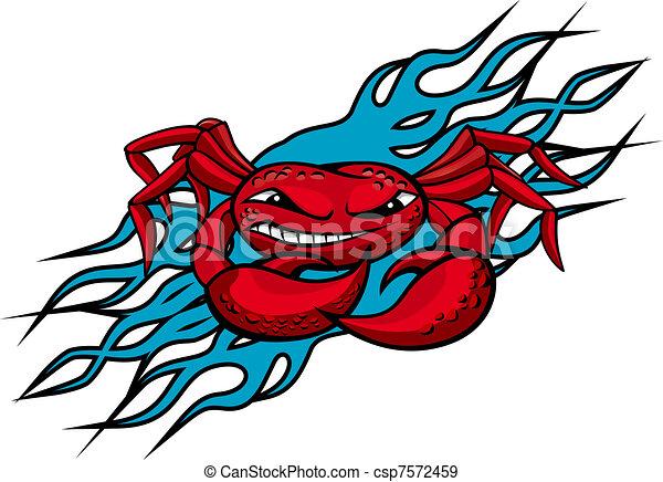 Cardinal crab tattoo - csp7572459