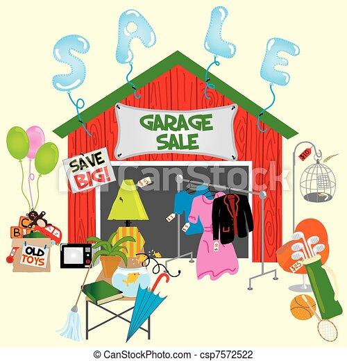 Garage Sale! - csp7572522