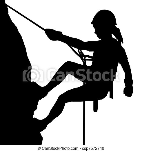 Abseiling Lady - csp7572740