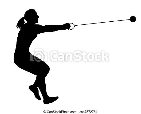Ladies Hammer Thrower - csp7572764