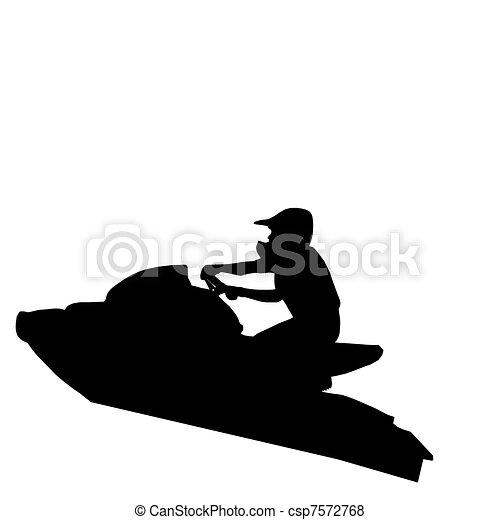 Vecteur de jet ski sauter coureur isolated image de jet ski csp7572768 recherchez - Jet ski dessin ...