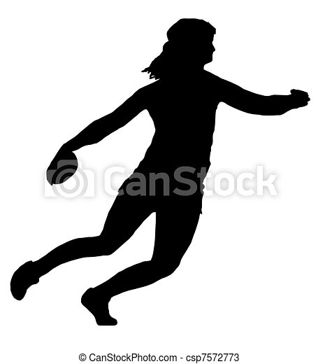 Ladies Discus Thrower - csp7572773