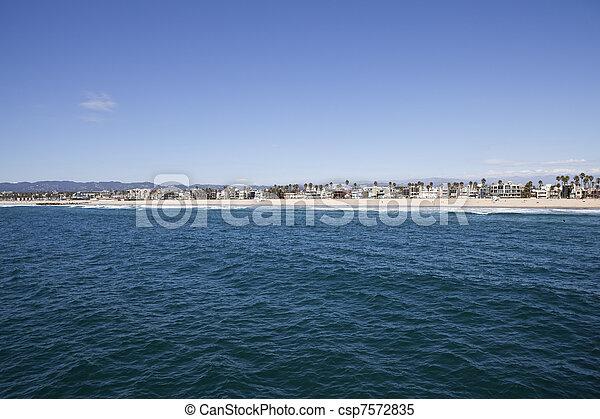 Venice Beach Aerial - csp7572835