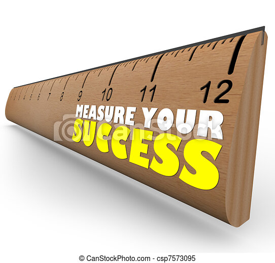 Measure Your Growth Ruler to Review and Assess Progress to Goal - csp7573095