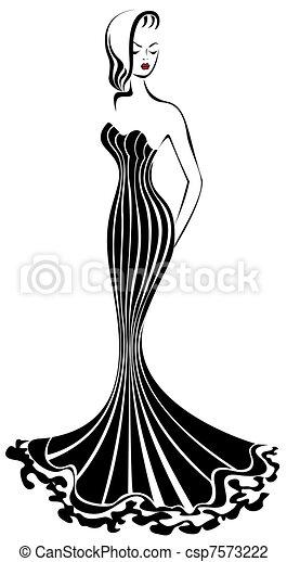 Ladies dresses clip art