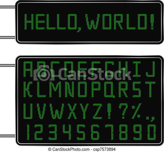 Digital Font - csp7573894