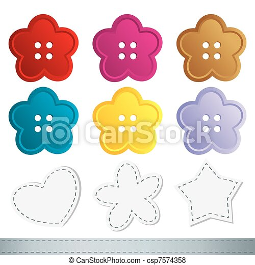 set of sewing buttons - csp7574358