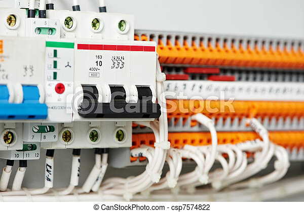 electrical fuseboxes and power lines switchers - csp7574822