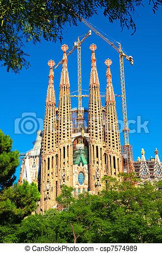 Sagrada Familia church in Barcelona - csp7574989