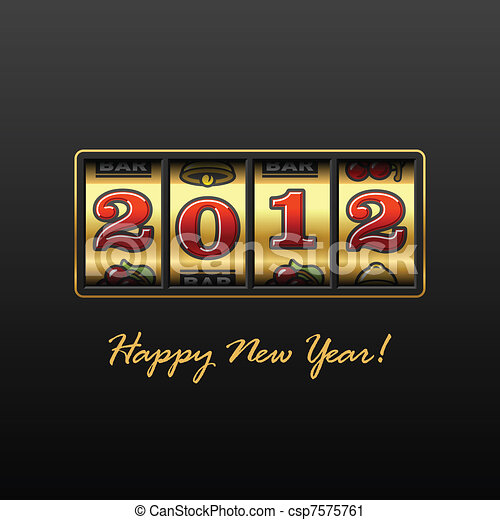 Happy New Year 2012 - csp7575761