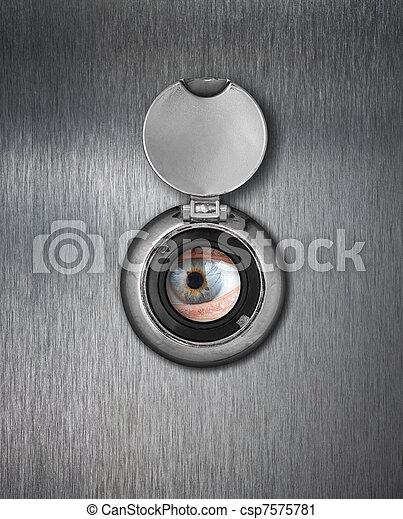 Peep hole closeup - csp7575781