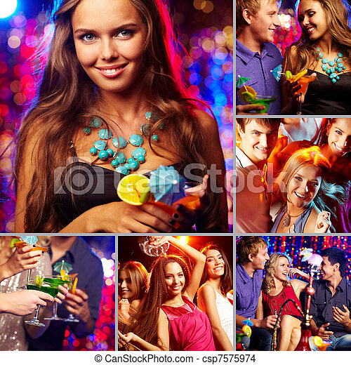 Friends at party - csp7575974
