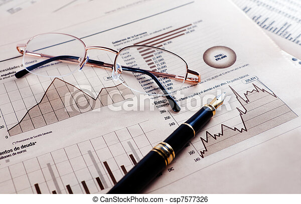 Economy and financial background  - csp7577326