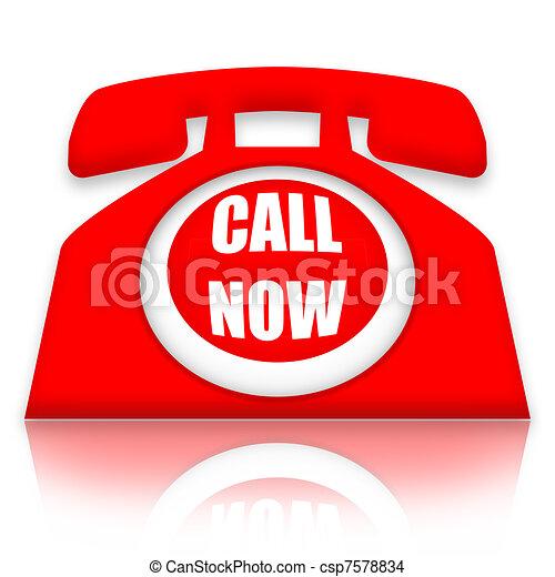 Call Now - csp7578834