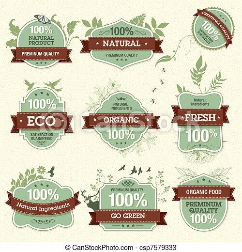 Set of Natural Premium Quality Labe - csp7579333