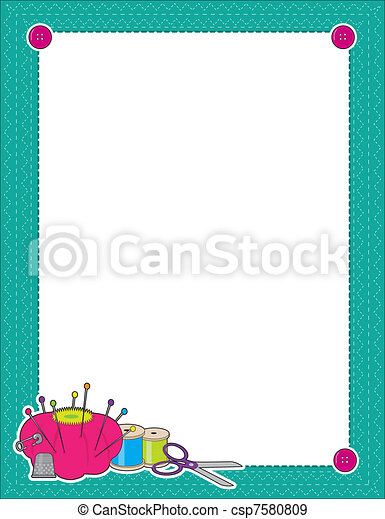 Sewing Border - csp7580809