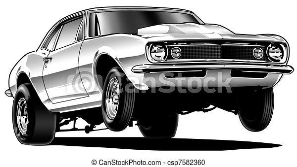 Drag Car Wheelie - csp7582360