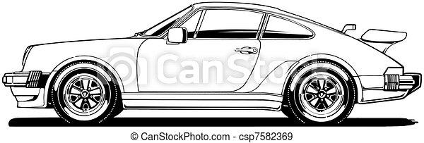 German Sports Car Side View - csp7582369
