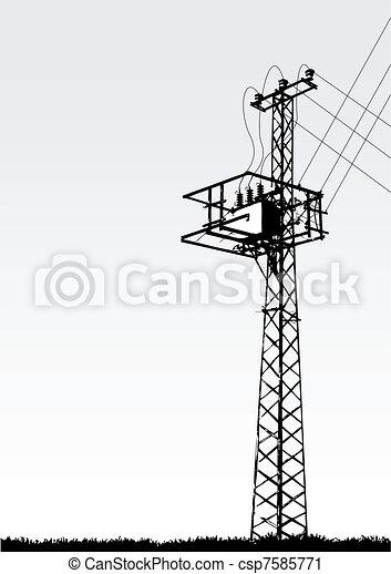 transmission tower - csp7585771