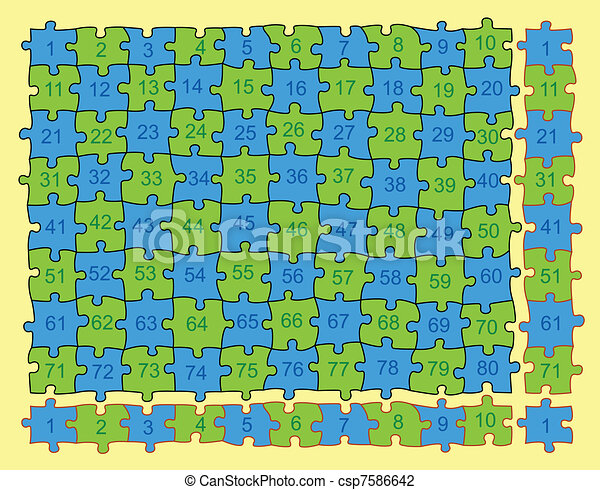 Vector Puzzle Endless Looping - csp7586642
